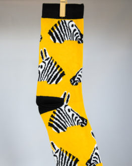 zebra head socks