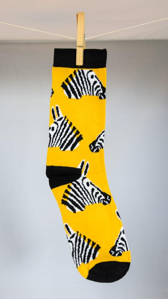 zebra head socks