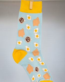 eggs coffee toast socks