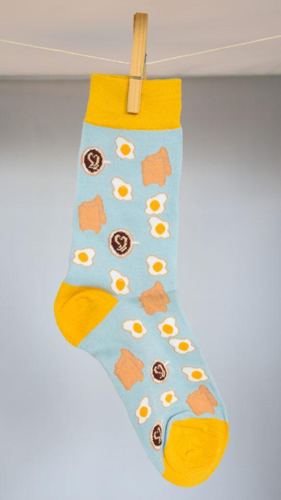 eggs coffee toast socks