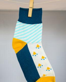 Graphic blue socks