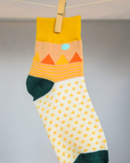 graphic yellow socks