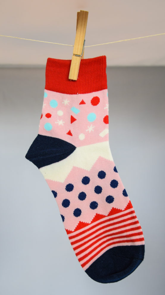 Graphic pink socks